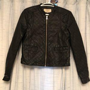 Zara velvet leather jacket